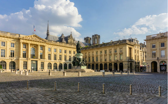 The streets of the historic centre of Reims