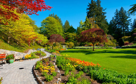 Path in Butchart Gardens