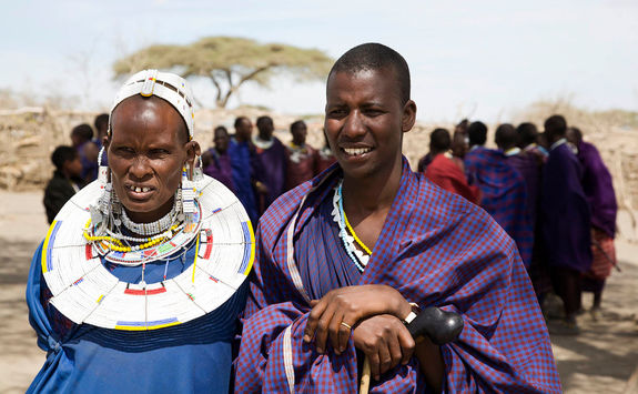 Masai mother and son