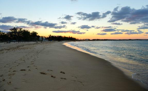 Sunset on Tofo beach