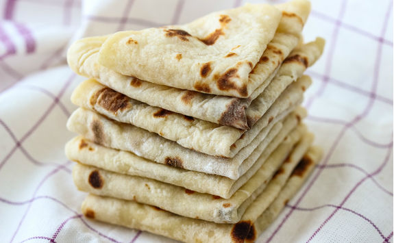 Norwegian Lefse, a mashed potato flatbread