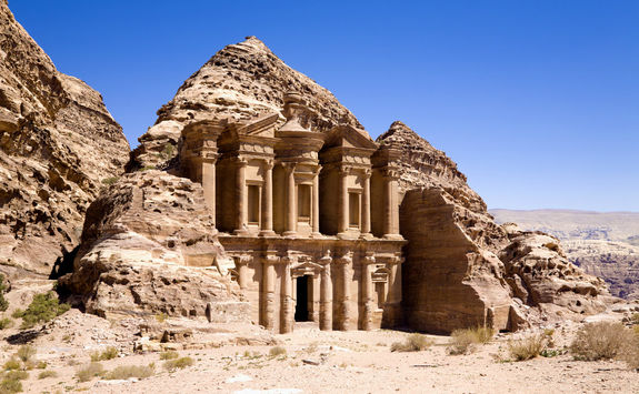 The Monastery in Ancient City of Petra