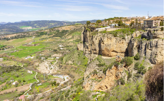 Cliffs of the city of Ronda