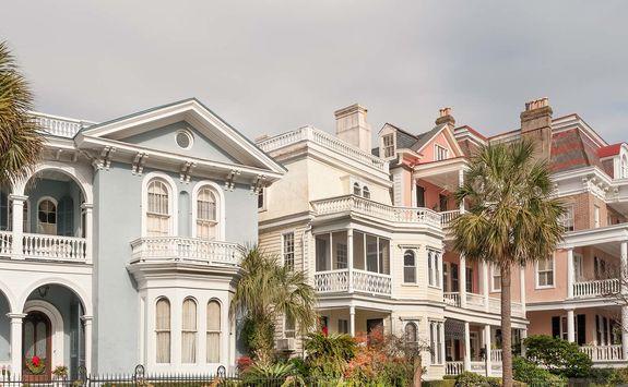 Charleston Colonial houses