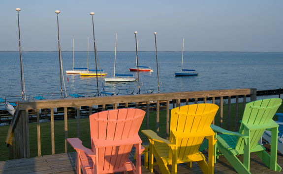 Deck chairs in Outer Banks