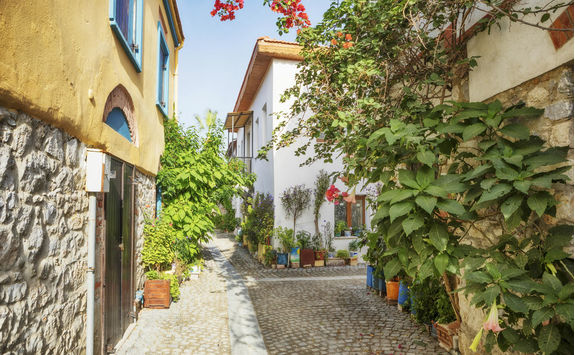 Colourful streets in Izmir