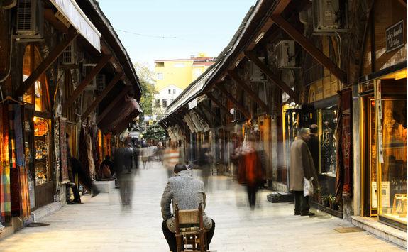 Historic bazaar at Arasta