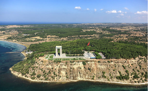 Canakkale Martyrs' Memorial from above