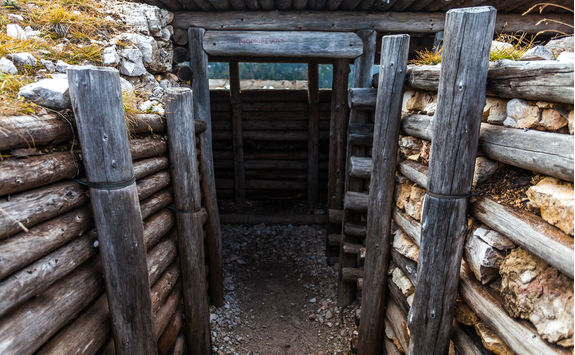 Trenches of World War I in the Dolomites