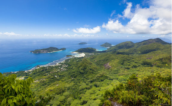 Aerial view of the Seychelles