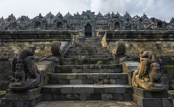 Stairs in Borobudur Temple