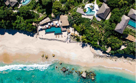 Aerial view of Nihi Sumba resort