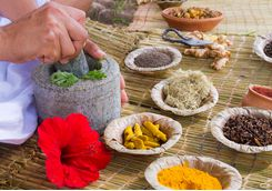 massage treatment herbs
