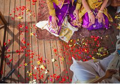 bali flower ceremony