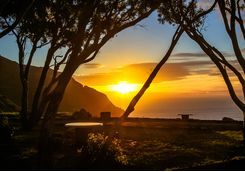 Sunset over Chapman's Peak