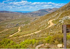 View across the Swartberg Pass