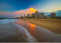 Sunset on Durban Beach