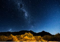 Starry sky in KwaZulu-Natal