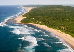Thonga Beach Lodge aerial view