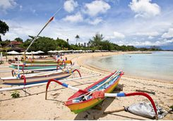 Boats on Sanur Beach