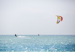Kite surfing on Sanur beach