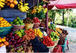 Bali market stall