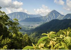 Lombok mountain scenery