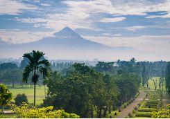 borobudur landscape indonesia
