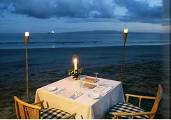 amankila beach dining