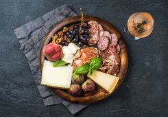 Figs, cheese and cold meats
