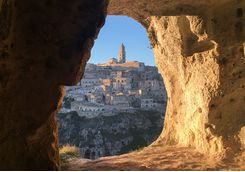 A cave window in Matera