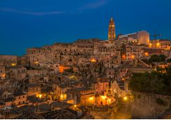 Matera at night