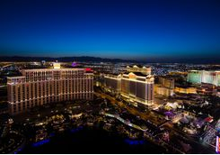 Aerial view across Las Vegas