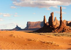 View across Monument Valley