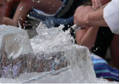 Create an ice sculpture