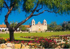santa barbara mission garden
