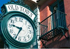 sidewalk clock old town santa barbara