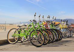 bike rack along santa monica