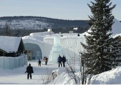 The icehotel in Jukkasjärvi