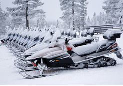 Hop on a snowmobile