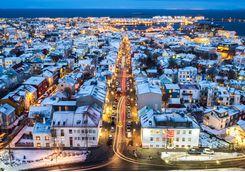 reykjavik at night