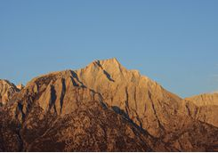 Lone Pine Peak in Sierra Mountains