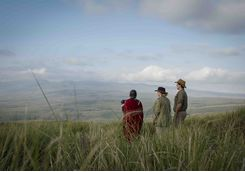 maasai guide with guests