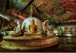 Dambulla temple inside