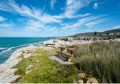 A beach at Hermanus Bay