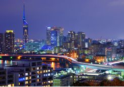 Fukuoka City at night