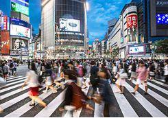 Busy crossing in Tokyo