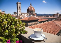 Coffee with a view of Florence