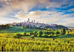 The town of San Gimignano