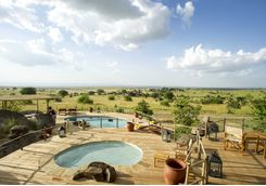 Serengeti decking and pool